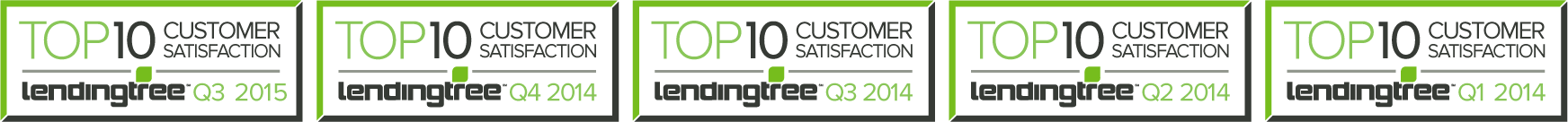 LendingTree Top Ten awards for Silver Fin Capital.